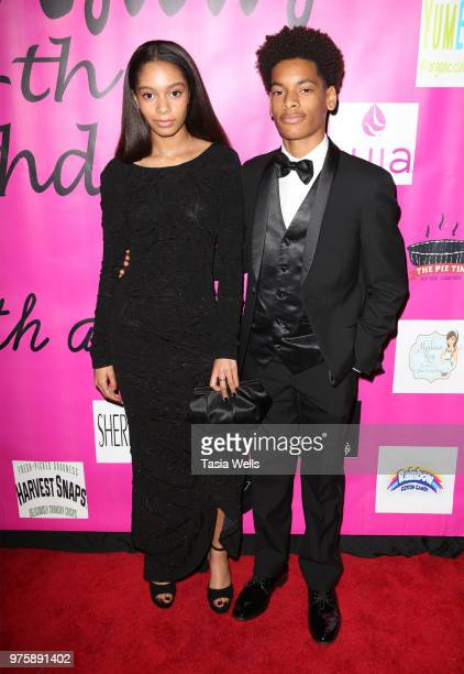 Gabrielle Goodman and Michael Goodman attend Jillian Estell's red carpet birthday party with a purpose benefitting The Celiac Disease Foundation on...