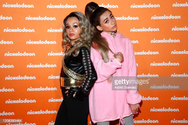 Gabrielle Green and Nathan Janak as Ariana Grande on All That attend the Nickelodeon Exclusive Presentation at The Shed on February 24 2020 in New...