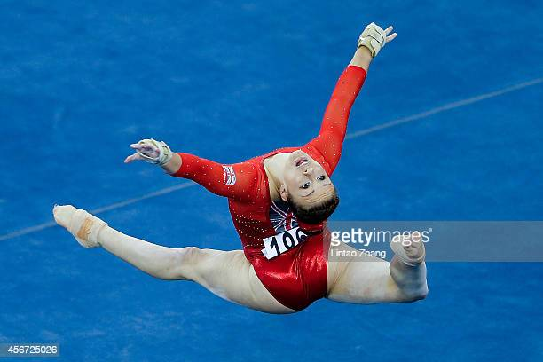 Gabrielle Jupp of Great Britain performs on the Floor Exercise during the women's qualification of the 45th Artistic Gymnastics World Championships...