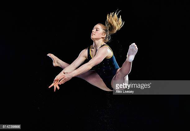 Gabrielle Jupp of the British Gymnastics Team poses during a portrait session at Lilleshall National Sports Centre on February 11 2016 in Shropshire...