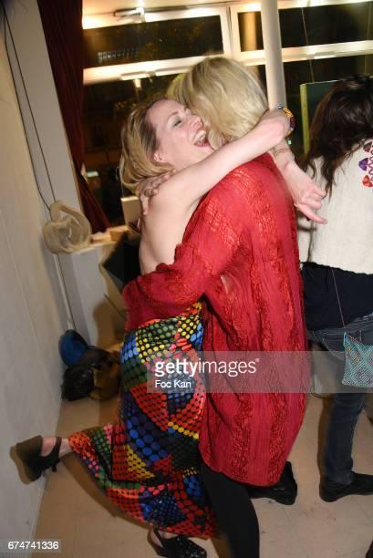 Gabrielle Lazure and Christine BergstromÊLeibowitch attend Gabrielle Lazure 'Sixteen' Birthday Party at Galerie 18 Bis on April 28 2017 in Paris...