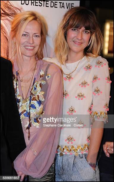 """Gabrielle Lazure and Daphne Burki attend the premiere of """"Un Heureux Evenement"""" in Paris."""