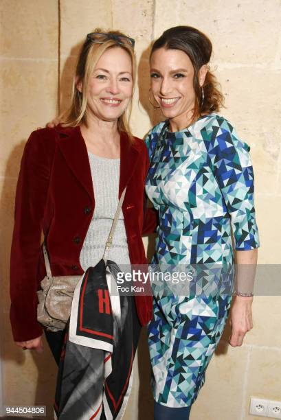 Gabrielle Lazure and Sacha Lucasattend the 'Bel RP' 10th Anniversary at Atelier Sevigne on April 10 2018 in Paris France