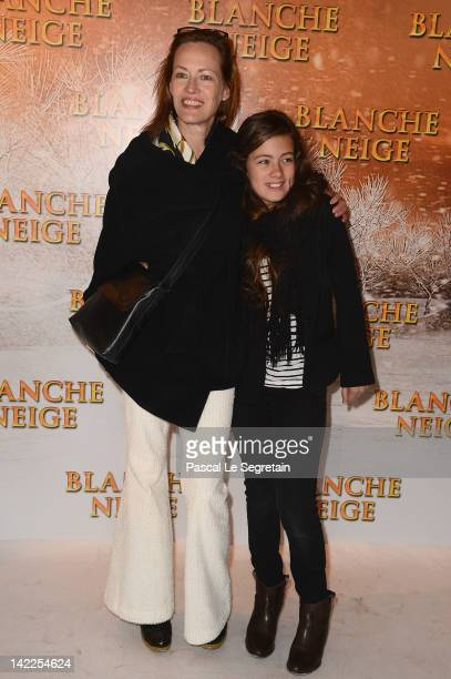 Gabrielle Lazure attends the 'Blanche Neige' Paris Premiere at Gaumont Capucines on April 1 2012 in Paris France