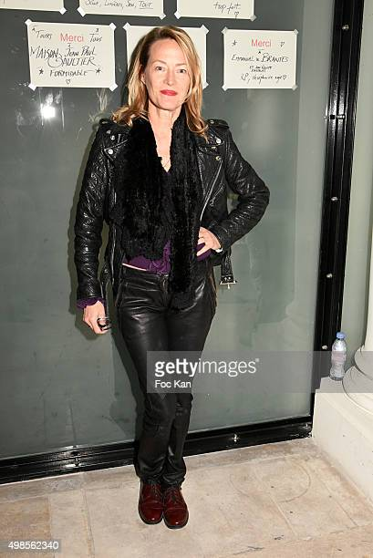 Gabrielle Lazure attends the 'ICCARRE' Auction Cocktail To Benefit AIDS Research at Maison Jean Paul Gaultier on November 23 2015 in Paris France