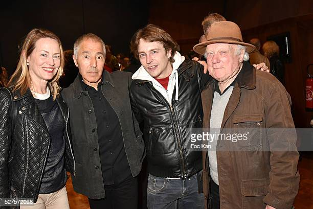 Gabrielle Lazure director Idriss Alaouy actor Vincent Rottiers and Philippe Nahon attend La Dormeuse Duval Screening Party hosted by Quizas at Studio...
