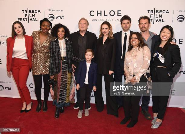 Gabrielle Nadig, Nia DaCosta, Tessa Thompson, Charlie Ray Reid, Lily James, Luke Kirby, James Badge Dale and Rachael Fung pose with guests at a...