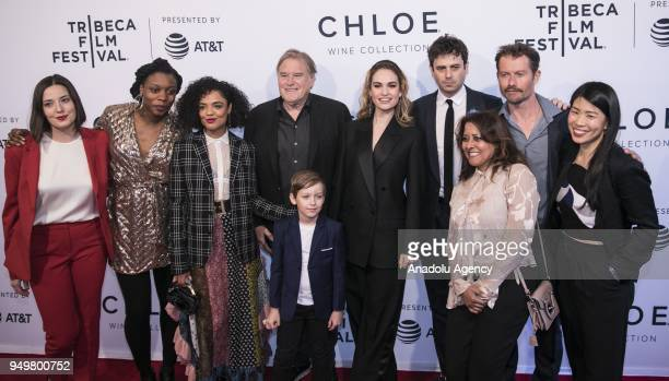 Gabrielle Nadig, Nia DaCosta, Tessa Thompson, Charlie Ray Reid, Lily James, Luke Kirby, James Badge Dale and Rachael Fung attend a screening of...