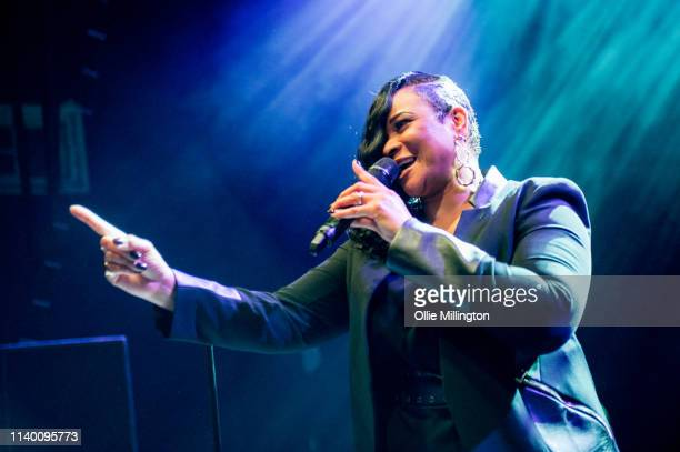 Gabrielle performs on stage at O2 Shepherd's Bush Empire on April 2 2019 in London England