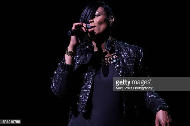Gabrielle performs on stage at St David's Hall on April 14 2016 in Cardiff Wales