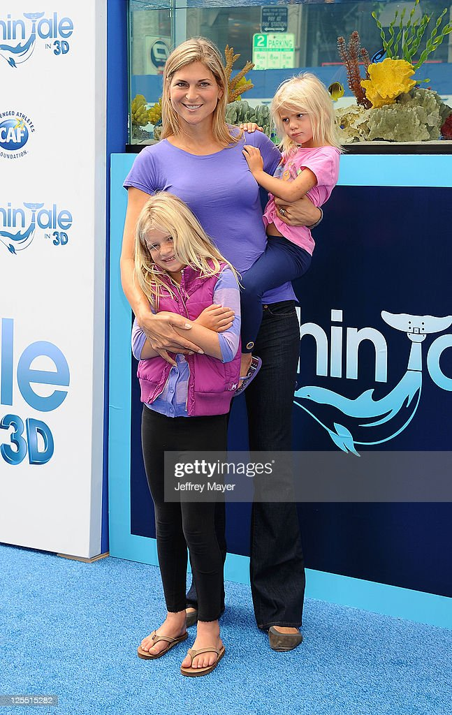 Gabrielle Reece and children attend the 'Dolphin Tale' Los Angeles Premiere at Mann Village Theatre on September 17, 2011 in Westwood, California.