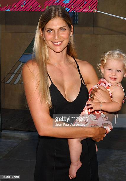 Gabrielle Reece and daughter Reece during Riding Giants Los Angeles Premiere at The Egyptian Theatre in Hollywood California United States