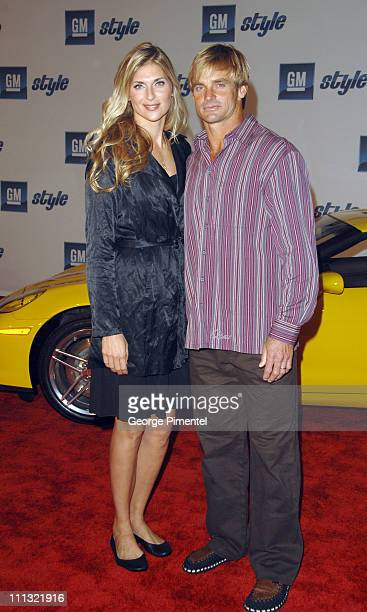 Gabrielle Reece and Laird Hamilton during 2007 GM Style Red Carpet at GM Pavilion in Detroit Michigan United States