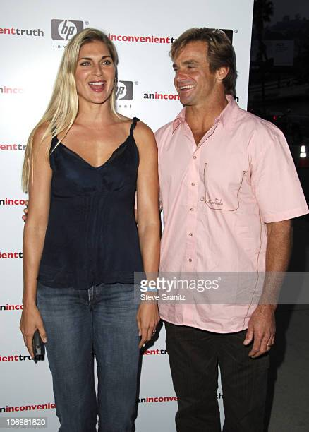 Gabrielle Reece and Laird Hamilton during An Inconvenient Truth Los Angeles Premiere Arrivals at Directors Guild in West Hollywood California United...