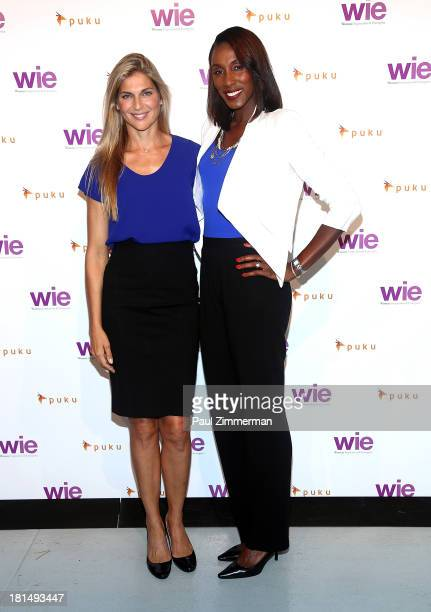 Gabrielle Reece and Lisa Leslie attend the 4th Annual WIE Symposium at Center 548 on September 21 2013 in New York City
