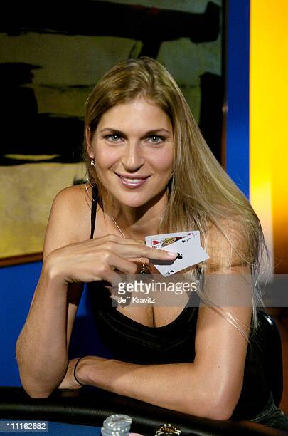 Gabrielle Reece during Celebrity Blackjack Matt Vasgersian hosts Celebrity Blackjack a one hour weekly tournament featuring 40 stars competing for a...