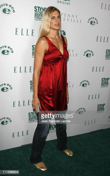 Gabrielle Reece during ELLE Green Issue Launch Party Arrivals at Boulevard 3 in Hollywood California United States
