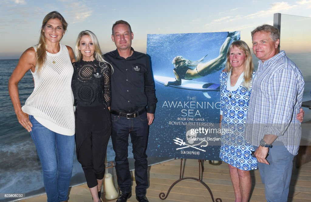 Gabrielle Reece, Farrah Smith, David Hence, Rowena and Bill Patterson attend 'The Awakening Sea' Launch Party By Rowena Patterson on July 27, 2017 in Malibu, California.