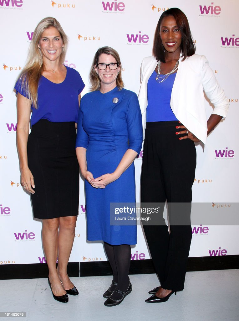 Gabrielle Reece, Jane McManus and Lisa Leslie attend day 2 of the 4th Annual WIE Symposium at Center 548 on September 21, 2013 in New York City.
