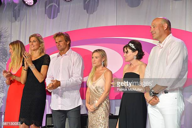 Gabrielle Reece Laurd Hamilton Tracy Anderson Lisa PevaroffCohn and Gary Cohn appear on onstage at the 2016 Hamptons Paddle Party for Pink Benefiting...