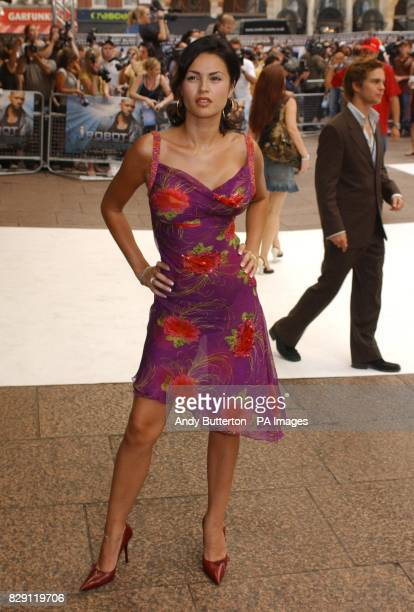 Gabrielle Richens arrives for the UK premiere of I Robot at the Odeon Leicester Square in central London