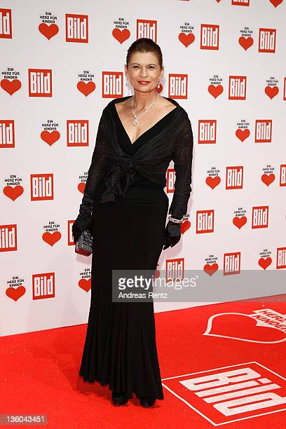 Gabrielle Scharnitzky arrives for the 'Ein Herz fuer Kinder' Charity gala on December 17 2011 in Berlin Germany