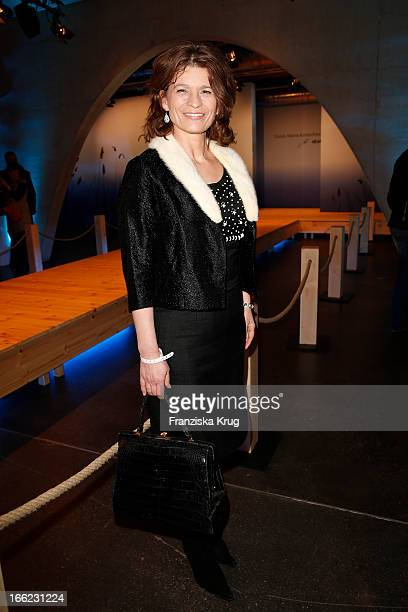 Gabrielle Scharnitzky attends the Guido Maria Kretschmer For eBay Collection Launch at Label 2 on April 10 2013 in Berlin Germany