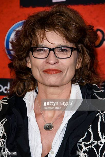 Gabrielle Scharnitzky attends the premiere of the film 'Tod den Hippies Es lebe der Punk' at UCI Kinowelt on March 24 2015 in Berlin Germany