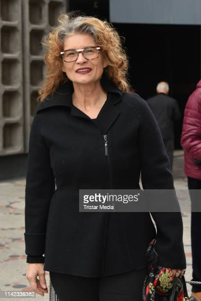 Gabrielle Scharnitzky during the commemoration for Heidi Hetzer on May 9 2019 in Berlin Germany