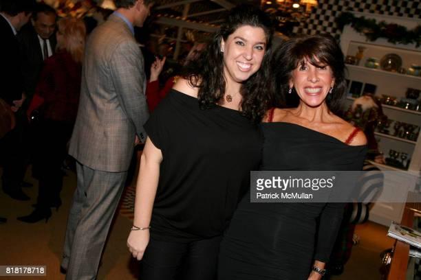Gabrielle Simon and Alyssa LeWinter attend MACKENZIECHILDS Holiday Store Unveiling benefitting BEST BUDDIES at MacKenzie Childs on November 9 2010 in...
