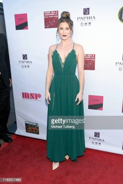 Gabrielle Stone attends the 4th annual Roger Neal Oscar Viewing Dinner Icon Awards and after party at Hollywood Palladium on February 24 2019 in Los...