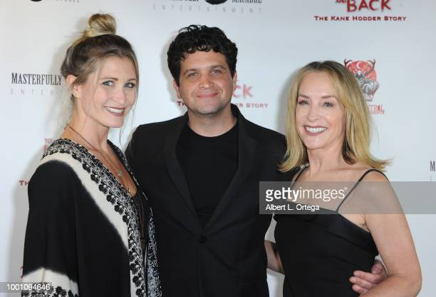 Gabrielle Stone Shaked Berenson and Amanda Wyss arrive for the Screening Of Epic Pictures Releasing's 'To Hell And Back The Kane Hodder Story' held...