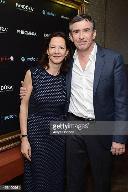 Gabrielle Tana and Steve Coogan attend PANDORA Jewelry and Moto X present Philomena at cinema prive at on December 3 2013 in West Hollywood California