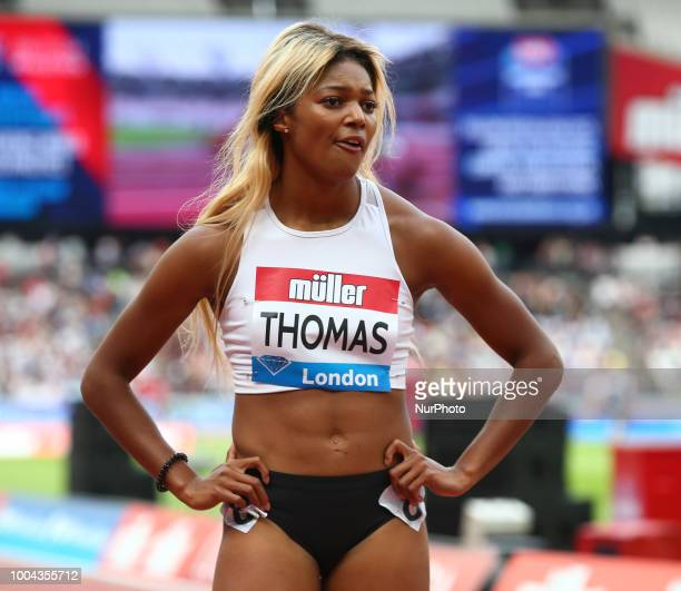 Gabrielle Thomas of USA after the 200m Women during the Muller Anniversary Games Day One at The London Stadium on July 22, 2018 in London, England.