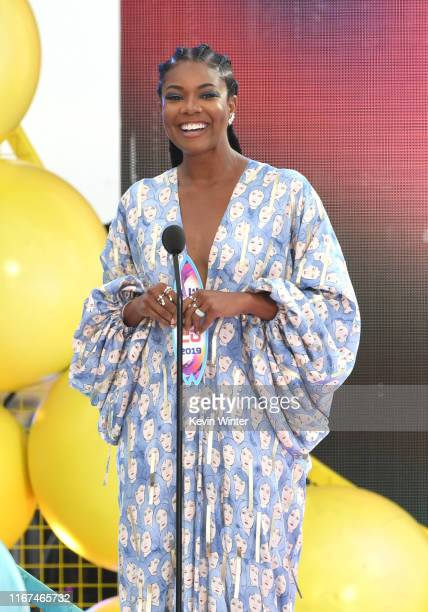 Gabrielle Union accepts Choice Action TV Actress for 'LA's Finest' onstage during FOX's Teen Choice Awards 2019 on August 11 2019 in Hermosa Beach...