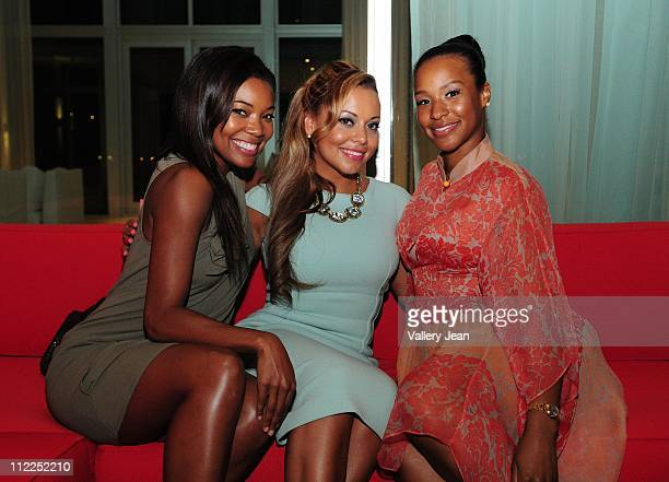 Gabrielle Union Adrienne Bosh and Savannah Brinson attend the Haute Living and Dom Perignon kick off of the Haute 100 celebrations with an intimate...
