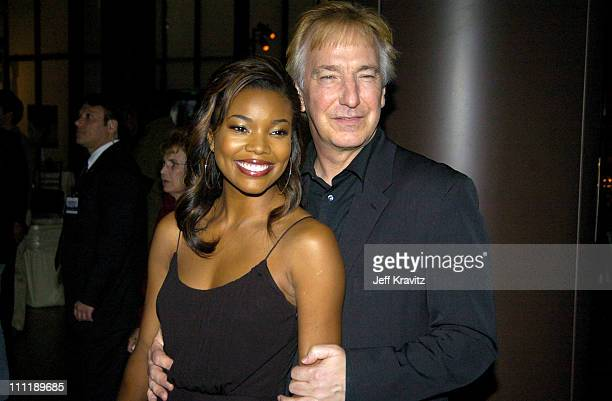 Gabrielle Union and Alan Rickman during HBO Films' 'Something the Lord Made' at DGA in Los Angeles California United States