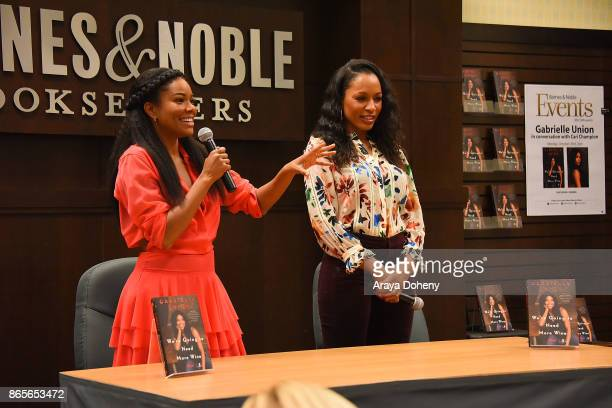 Gabrielle Union and Cari Champion in conversation for her Gabrielle Union's new book We're Going To Need More Wine at Barnes Noble at The Grove on...
