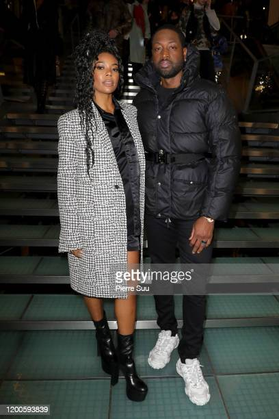 Gabrielle Union and Dwayne Wade attends the Alyx Menswear Fall/Winter 2020-2021 show as part of Paris Fashion Week on January 19, 2020 in Paris,...