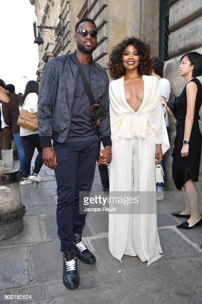 Gabrielle Union and Dwayne Wade are seen arriving at Berluti fashion show during the Paris Fashion Week Menswear Spring/Summer 2018 on June 23 2017...