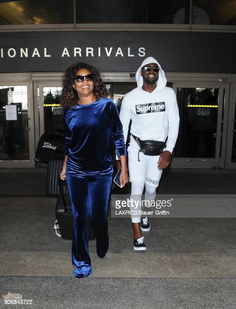 Gabrielle Union and Dwyane Wade are seen at LAX on July 03 2017 in Los Angeles California