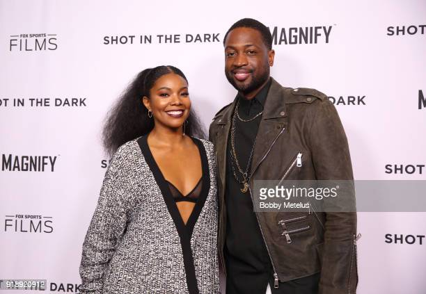 Gabrielle Union and Dwyane Wade are seen at the premiere of Shot In The Dark during NBA AllStar Weekend on February 15 2018 in Los Angeles California