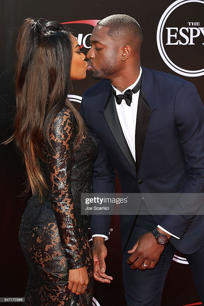 Gabrielle Union and Dwyane Wade arrive at The 2016 ESPYS at Microsoft Theater on July 13, 2016 in Los Angeles, California.