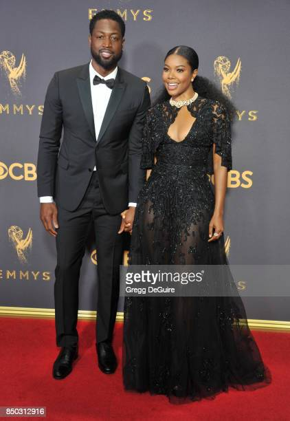 Gabrielle Union and Dwyane Wade arrive at the 69th Annual Primetime Emmy Awards at Microsoft Theater on September 17 2017 in Los Angeles California