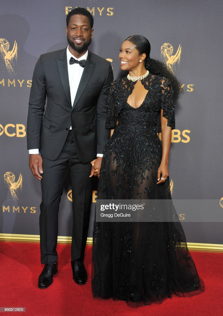 Gabrielle Union and Dwyane Wade arrive at the 69th Annual Primetime Emmy Awards at Microsoft Theater on September 17, 2017 in Los Angeles, California.