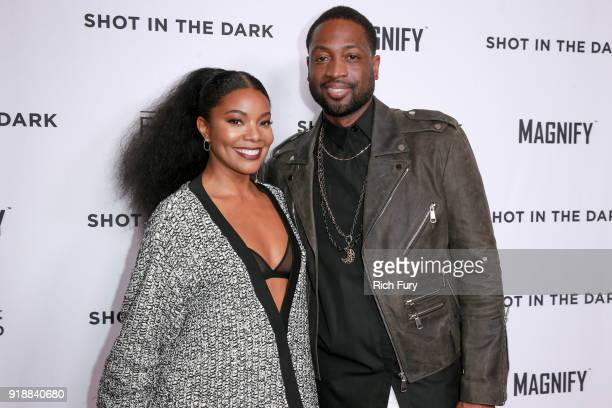 "Gabrielle Union and Dwyane Wade attend Magnify and Fox Sports Films' ""Shot In The Dark"" premiere documentary screening and panel discussion at..."