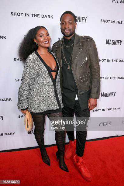 Gabrielle Union and Dwyane Wade attend Magnify and Fox Sports Films' 'Shot In The Dark' premiere documentary screening and panel discussion at...