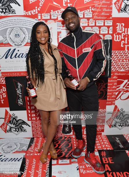 Gabrielle Union and Dwyane Wade attend Night Two of BUDX Miami by Budweiser on February 01, 2020 in Miami Beach, Florida.