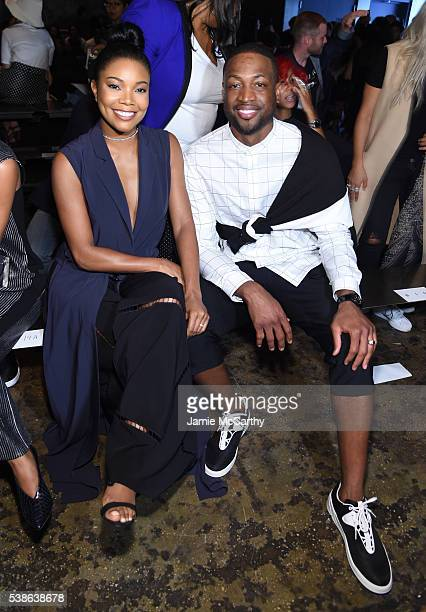 Gabrielle Union and Dwyane Wade attend Public School's Women's And Men's Spring 2017 Collection Runway Show at Cedar Lake on June 7 2016 in New York...
