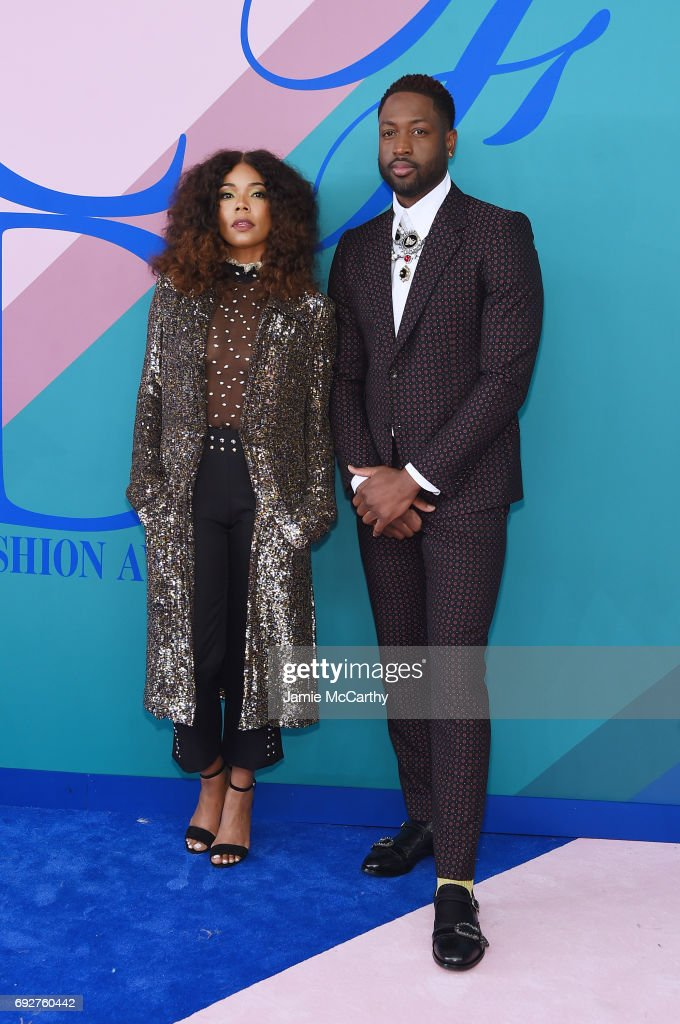 Gabrielle Union and Dwyane Wade attend the 2017 CFDA Fashion Awards at Hammerstein Ballroom on June 5, 2017 in New York City.
